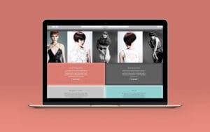 Image of En Route hair salon website on a laptop screen