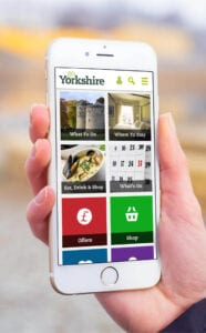 Image of Go Yorkshire app on a mobile phone