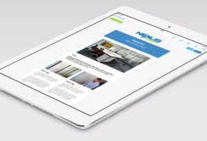 Example of Nexus Workspace email newsletter in an Ipad